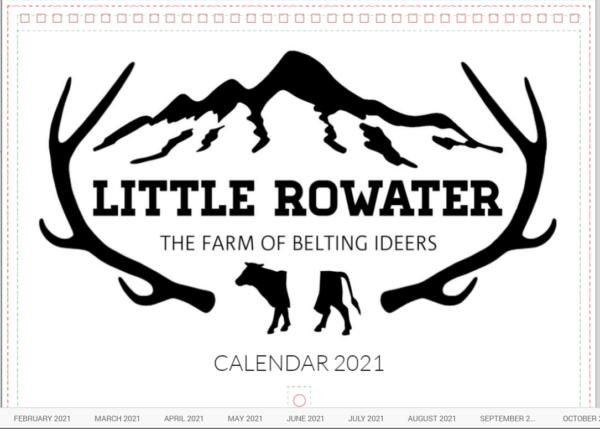 2021 Little Rowater Calendar